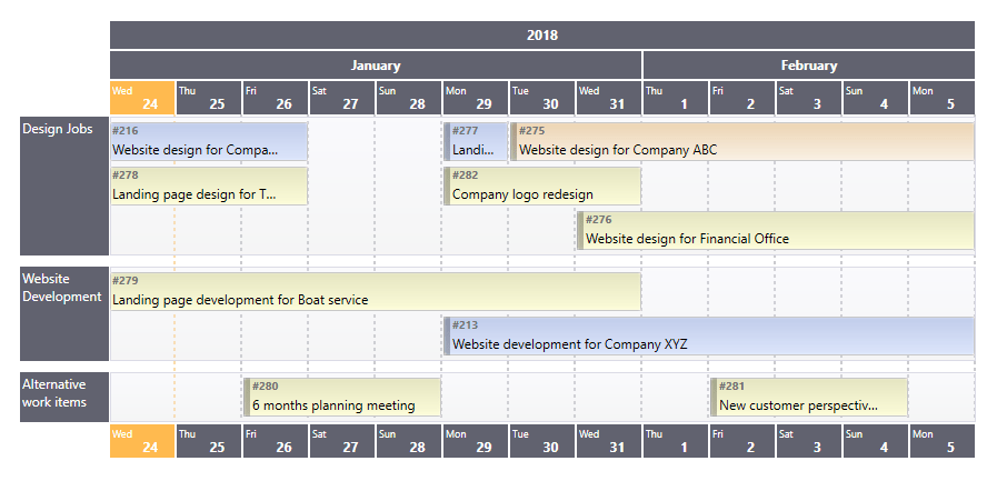 Schedule Or Roadmap View